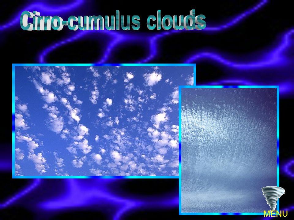 Cirro-cumulus clouds MENU
