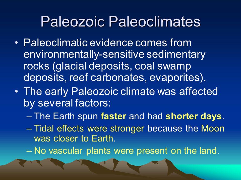 Paleozoic Paleoclimates
