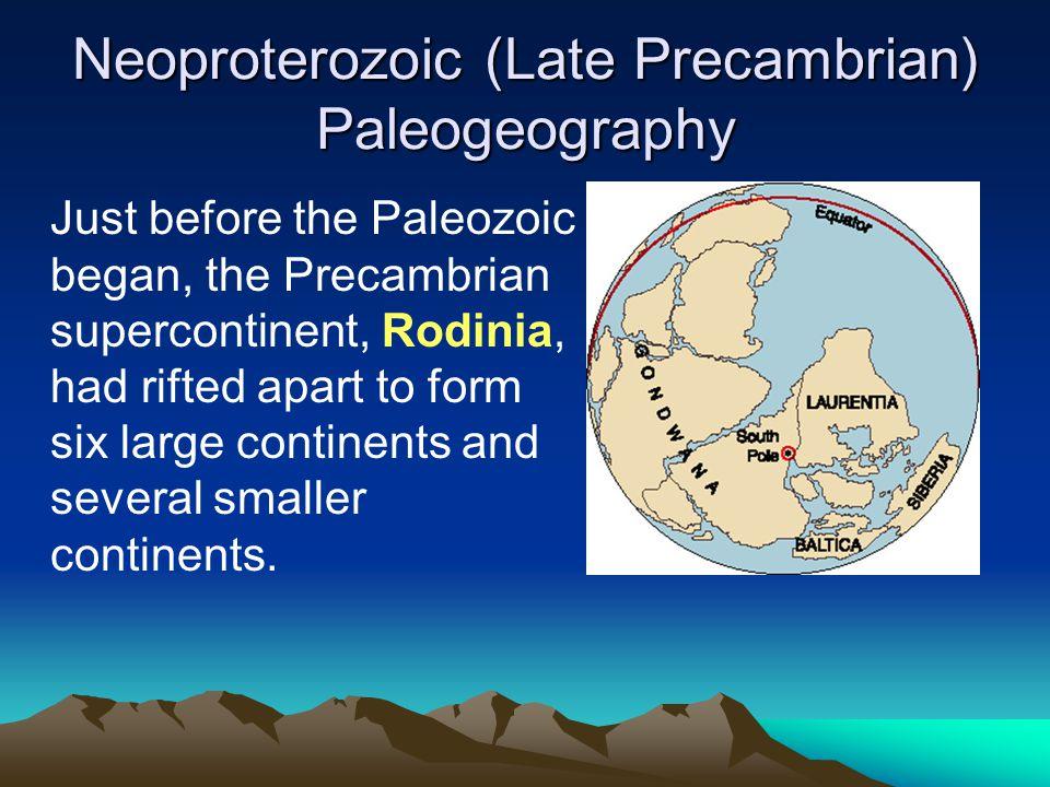 Neoproterozoic (Late Precambrian) Paleogeography