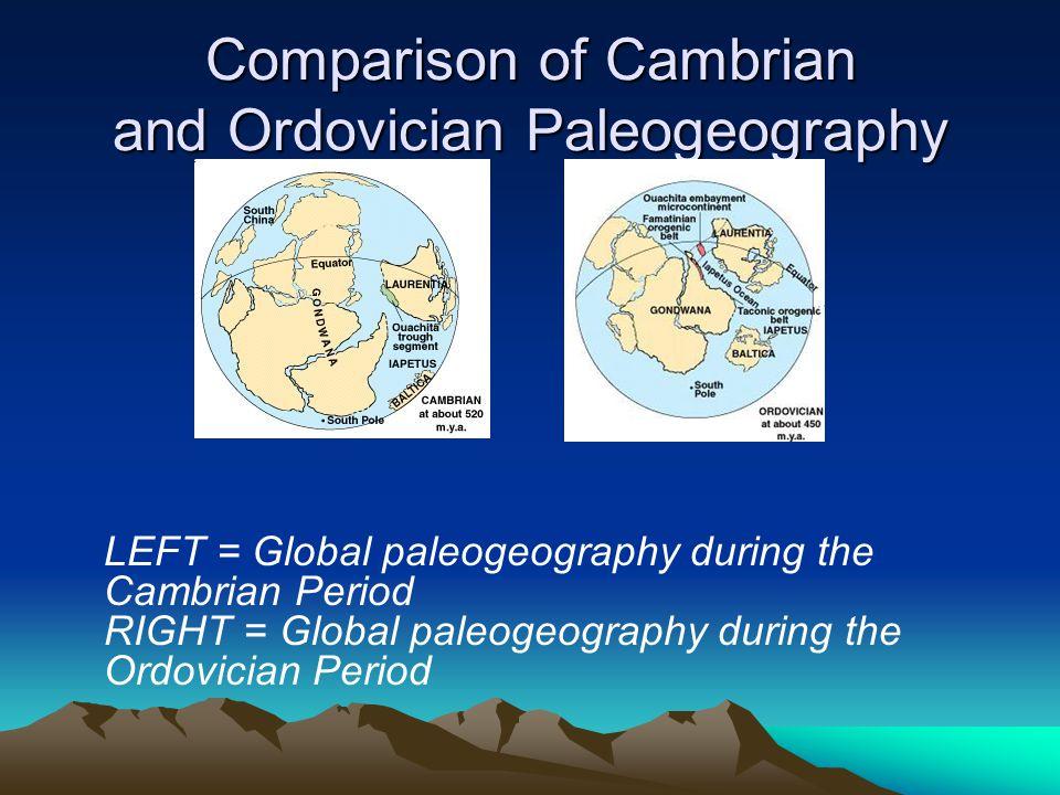 Comparison of Cambrian and Ordovician Paleogeography