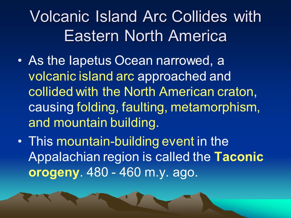 Volcanic Island Arc Collides with Eastern North America