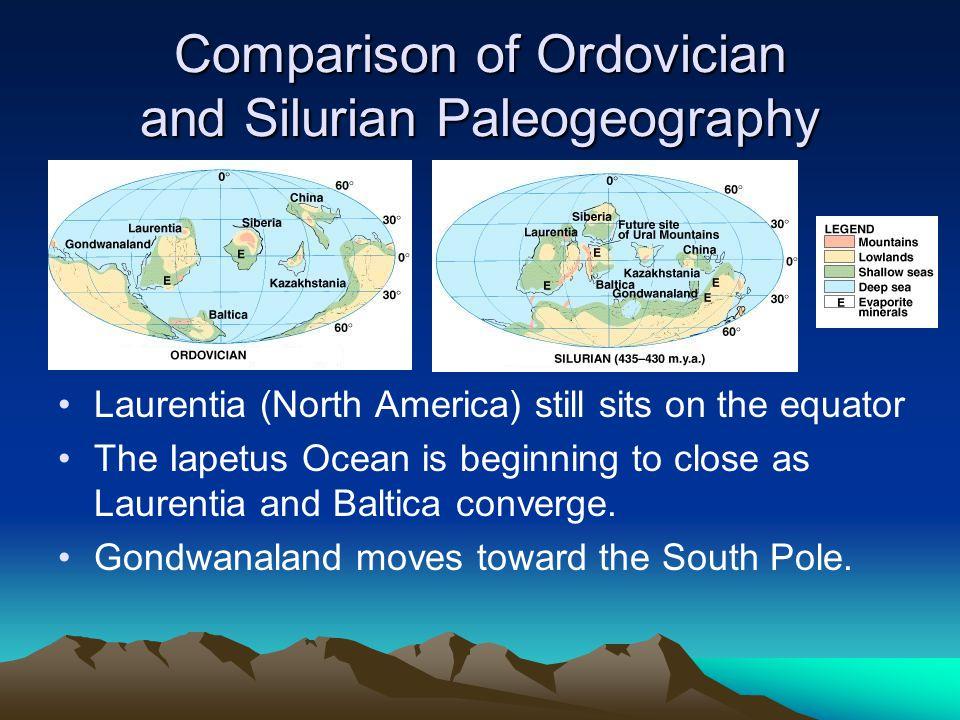 Comparison of Ordovician and Silurian Paleogeography