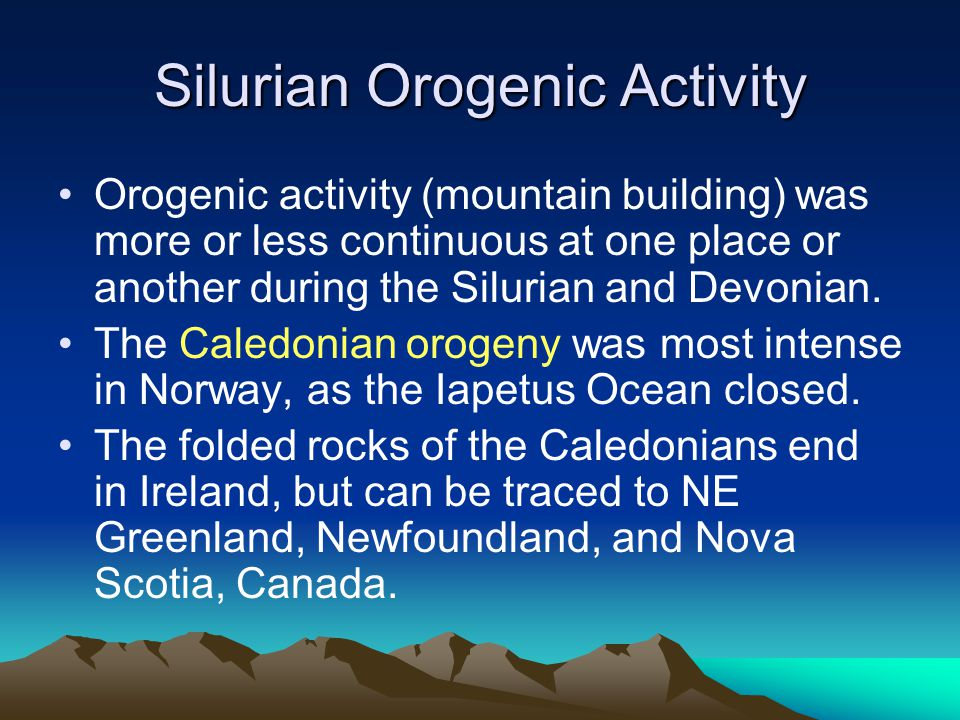 Silurian Orogenic Activity