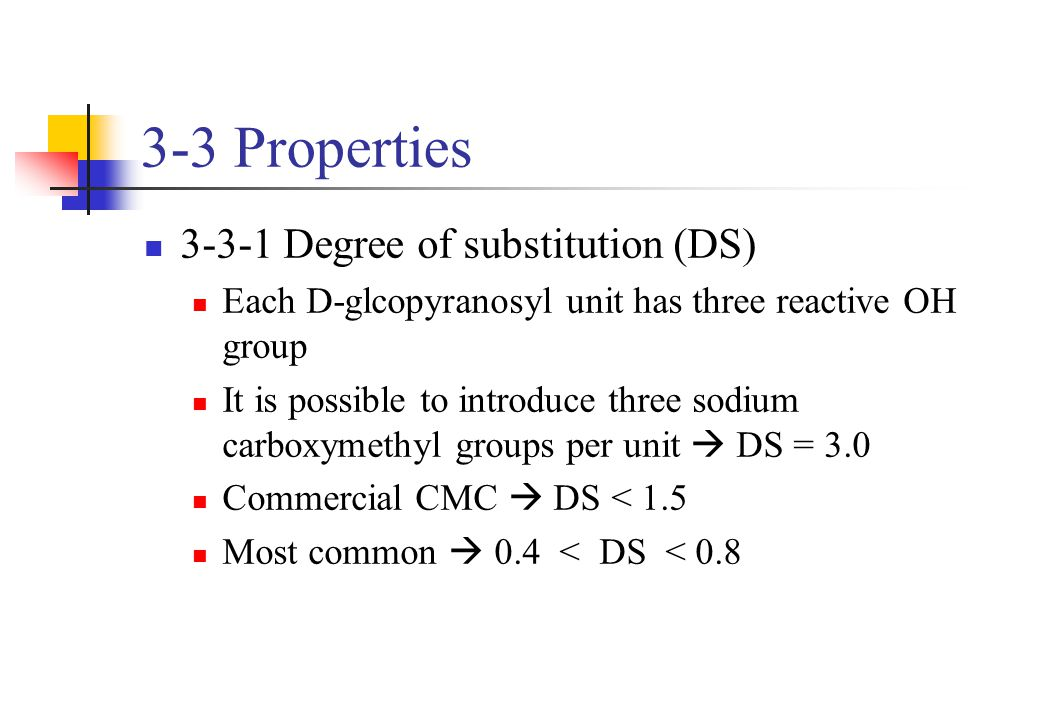 3-3 Properties 3-3-1 Degree of substitution (DS)