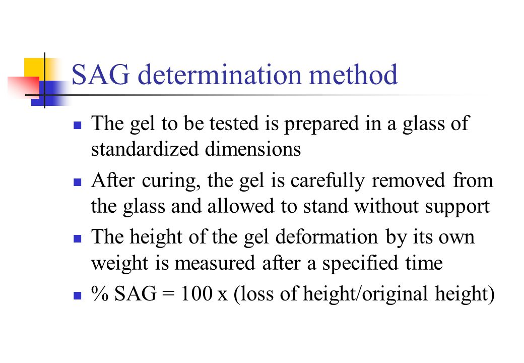 SAG determination method