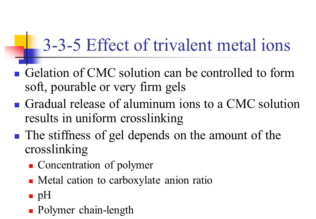 3-3-5 Effect of trivalent metal ions