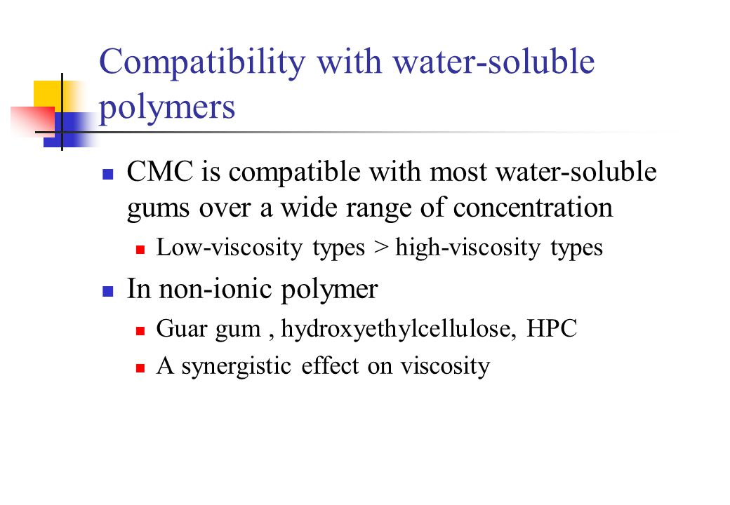 Compatibility with water-soluble polymers