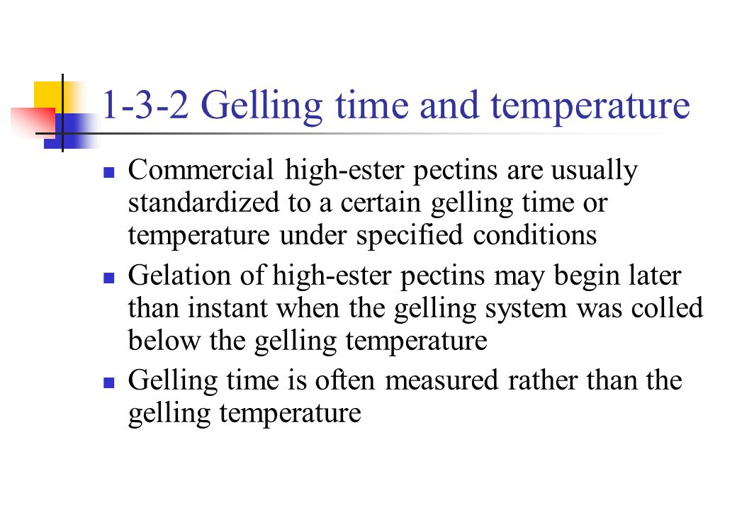 1-3-2 Gelling time and temperature