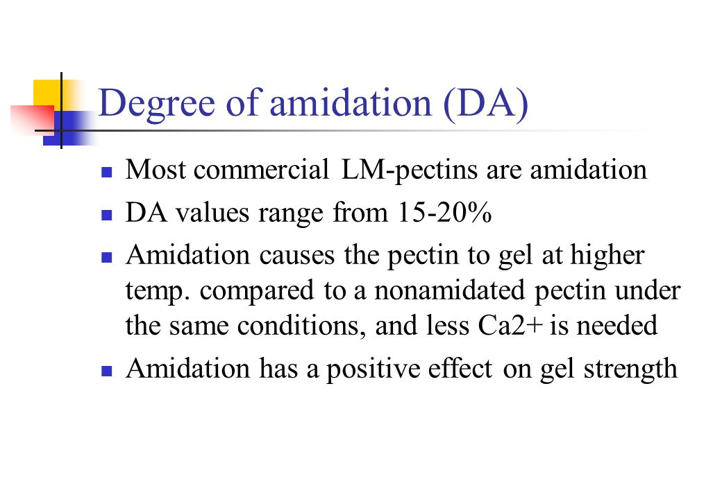 Degree of amidation (DA)