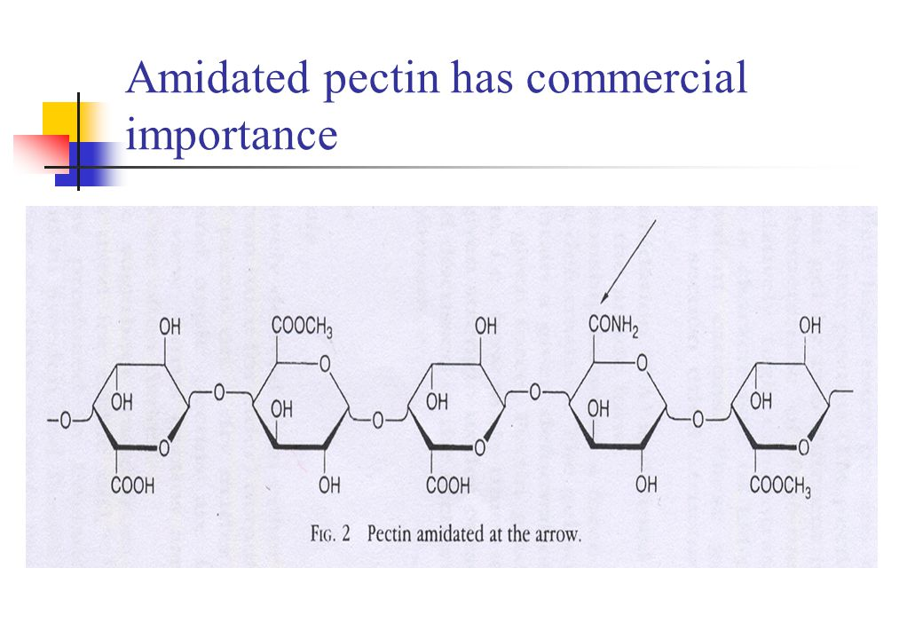 Amidated pectin has commercial importance