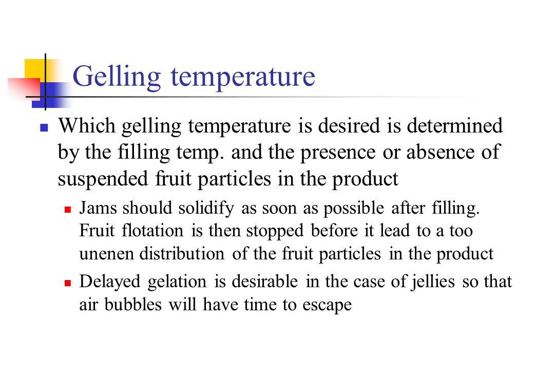 Gelling temperature