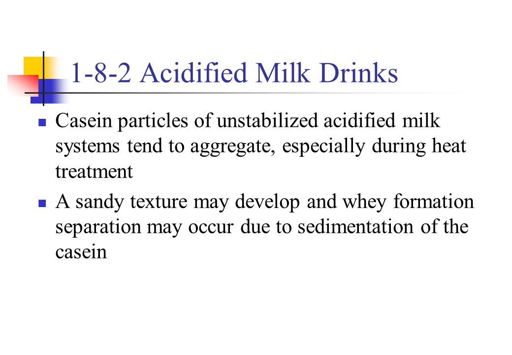 1-8-2 Acidified Milk Drinks