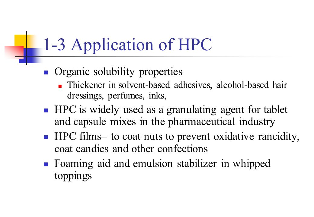 1-3 Application of HPC Organic solubility properties