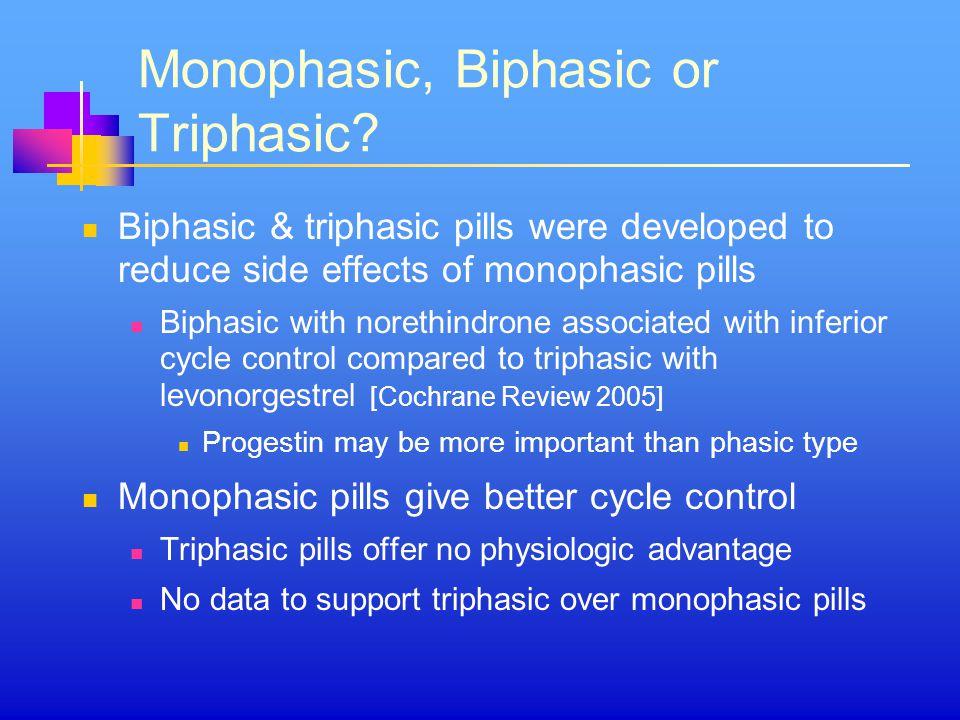 Monophasic, Biphasic or Triphasic
