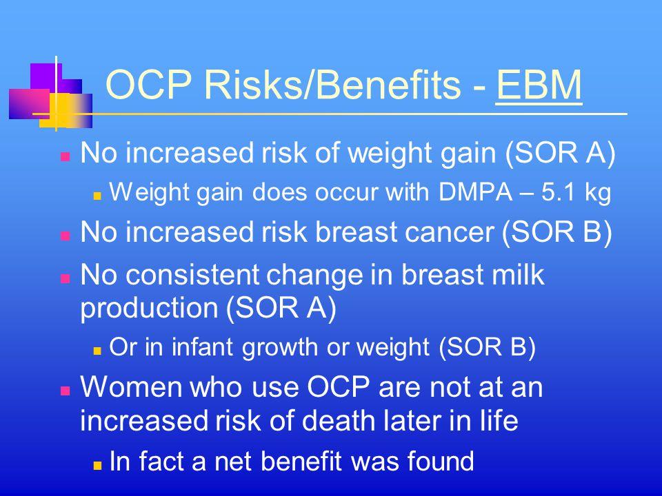 OCP Risks/Benefits - EBM