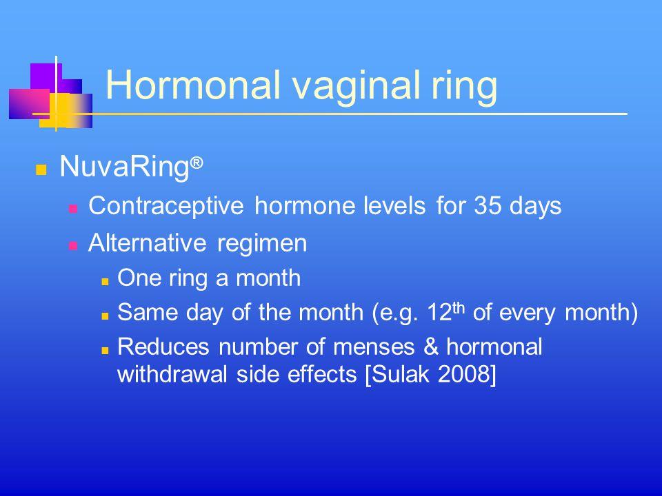 Hormonal vaginal ring NuvaRing®