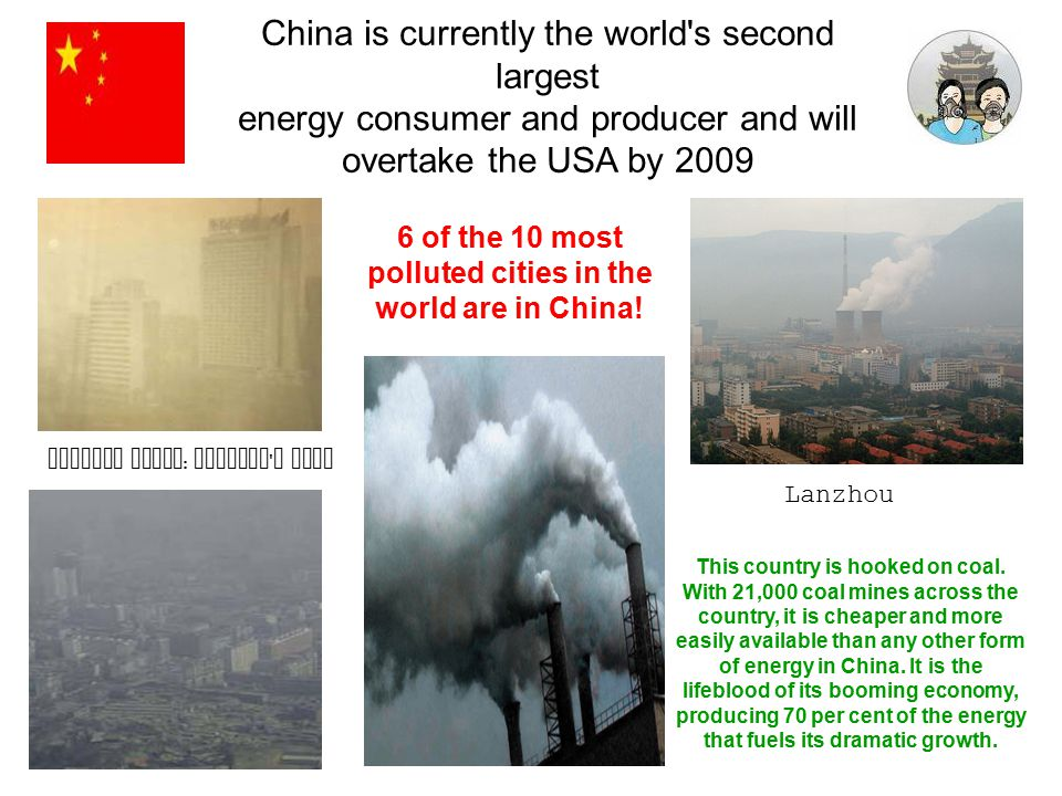 6 of the 10 most polluted cities in the world are in China!