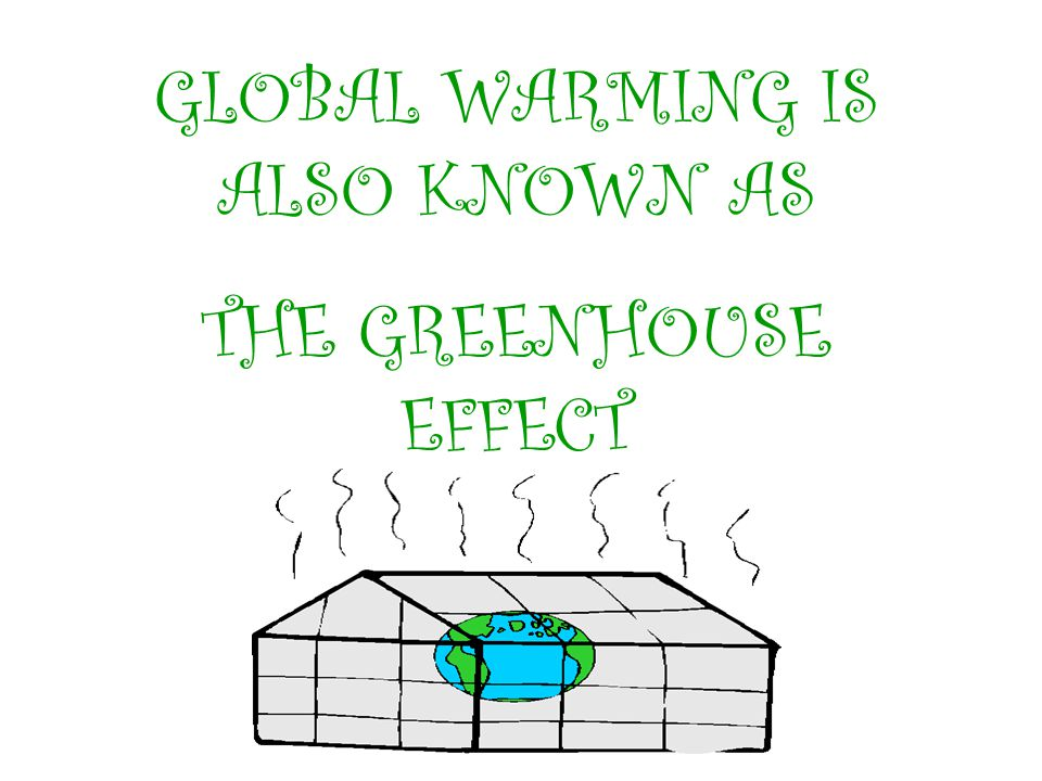 GLOBAL WARMING IS ALSO KNOWN AS