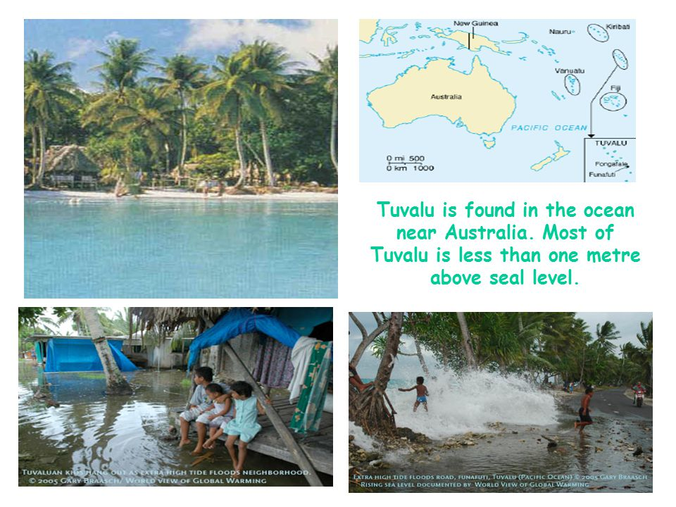 Tuvalu is found in the ocean near Australia