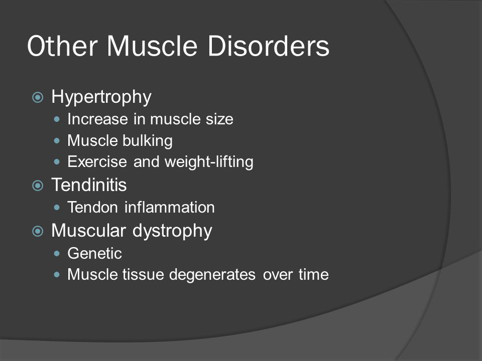 Other Muscle Disorders