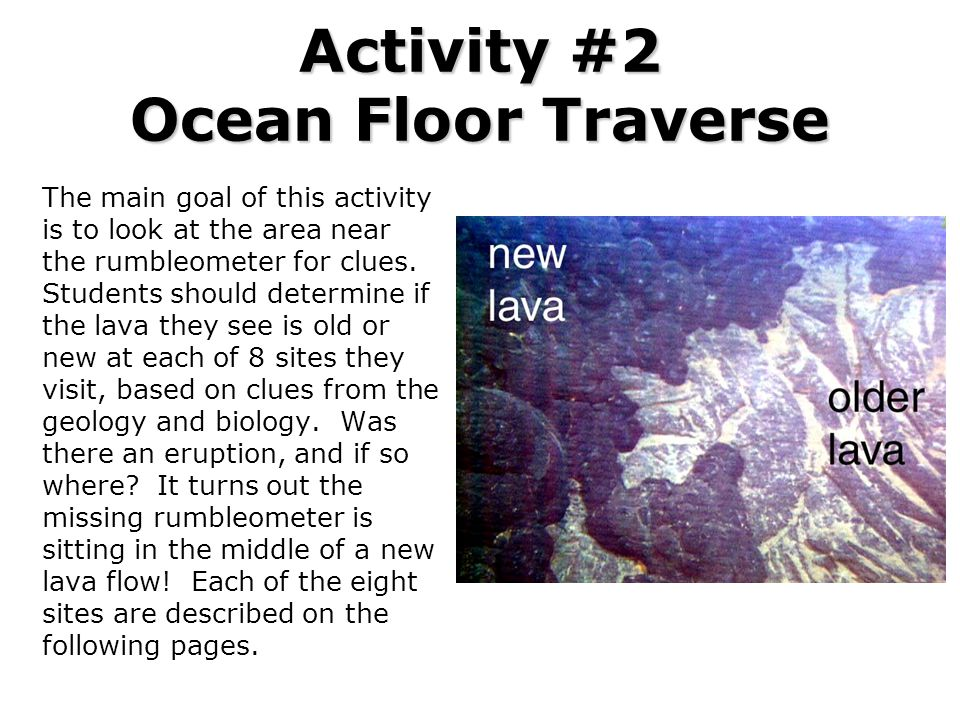 Activity #2 Ocean Floor Traverse