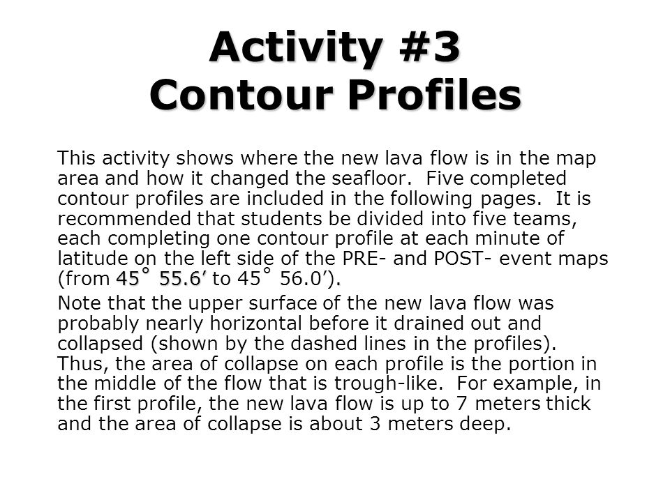 Activity #3 Contour Profiles