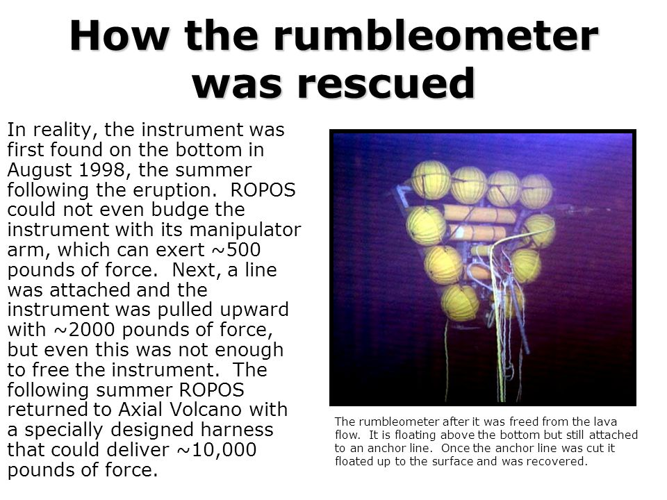 How the rumbleometer was rescued