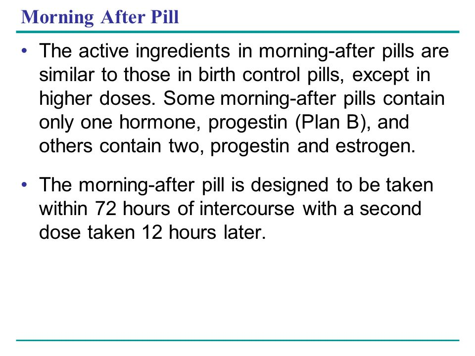 Morning After Pill