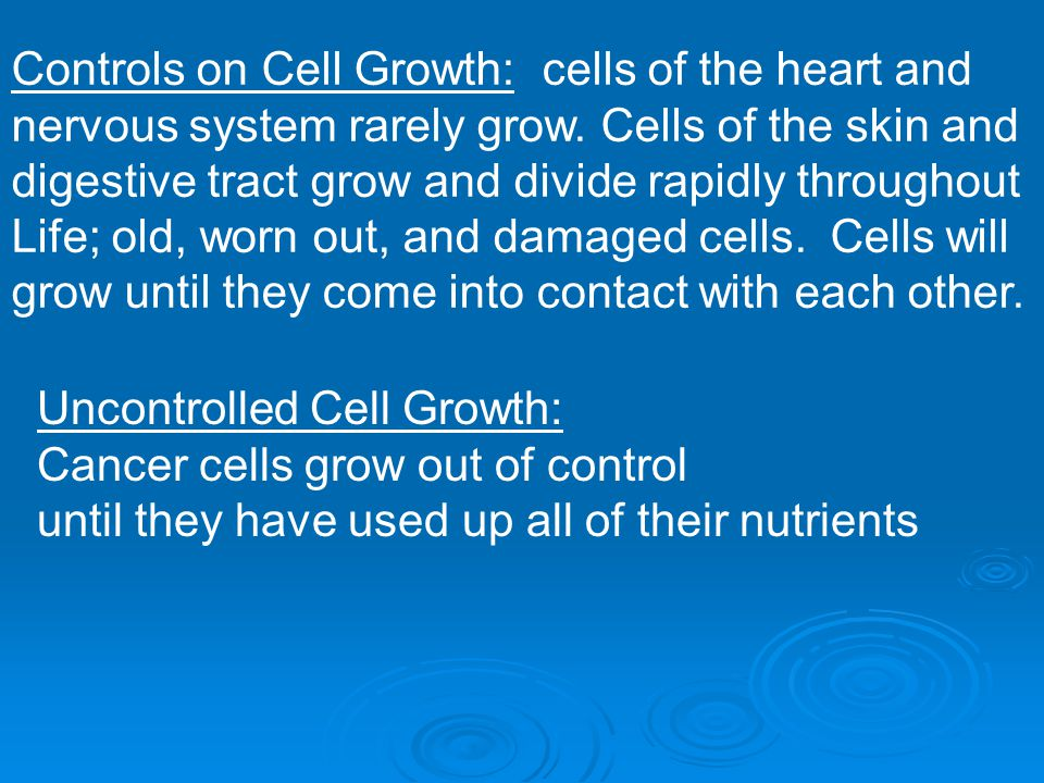 Controls on Cell Growth: cells of the heart and