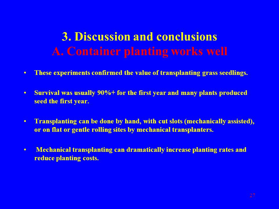 3. Discussion and conclusions
