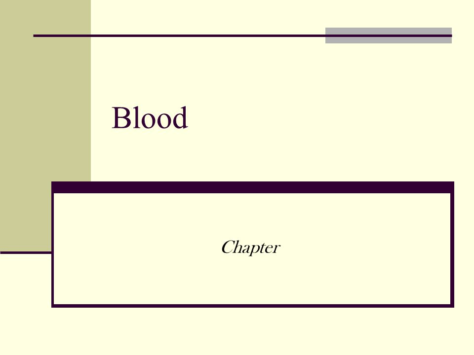 Blood Chapter