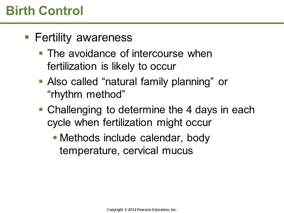 Birth Control Fertility awareness
