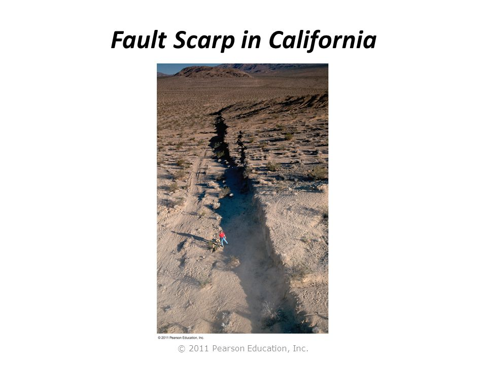 Fault Scarp in California