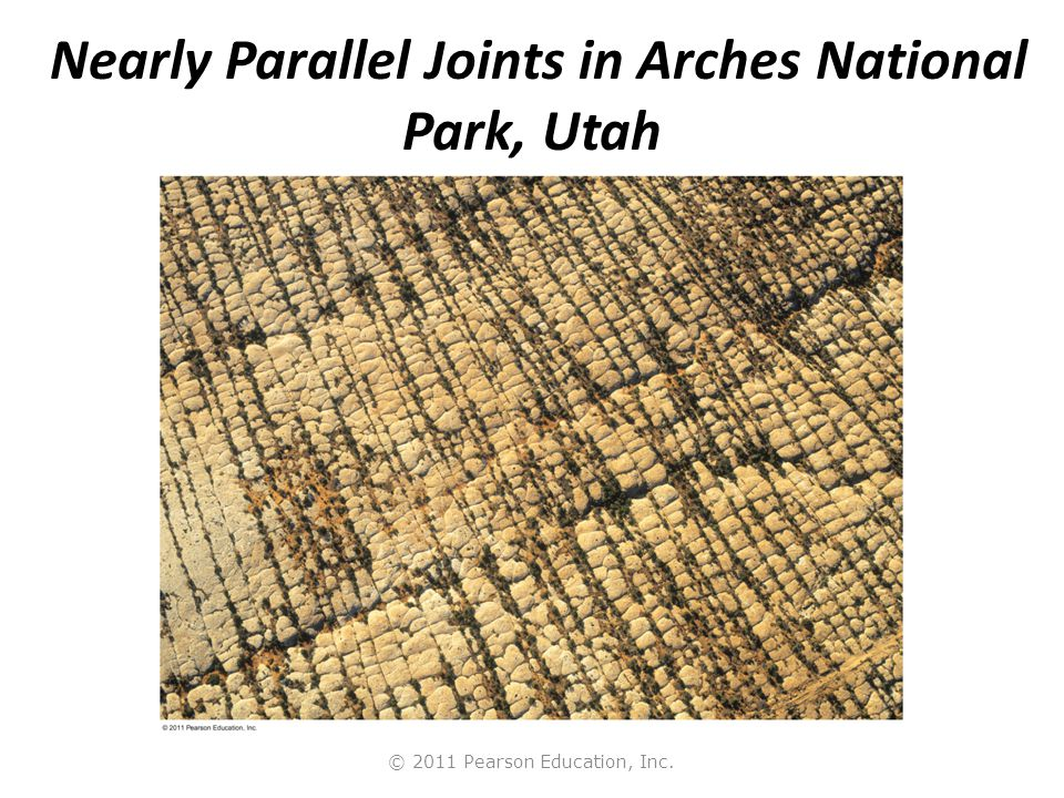 Nearly Parallel Joints in Arches National Park, Utah