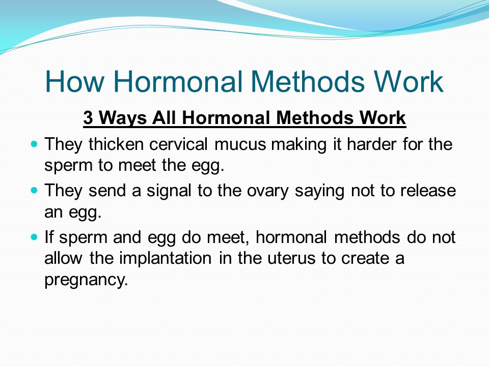 How Hormonal Methods Work