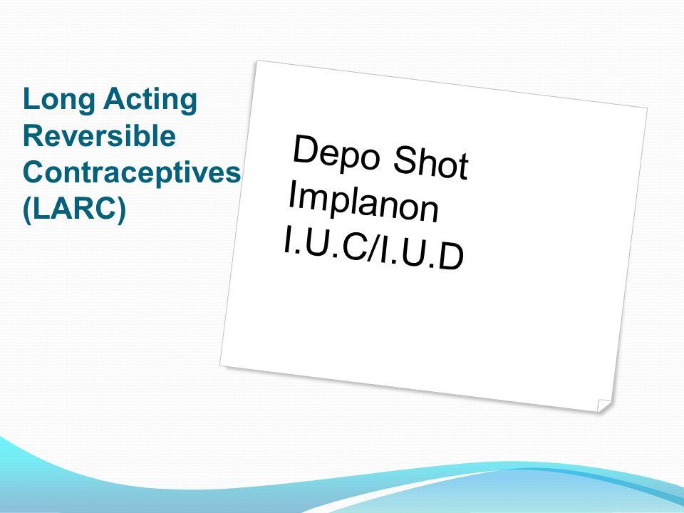 Depo Shot Implanon I.U.C/I.U.D
