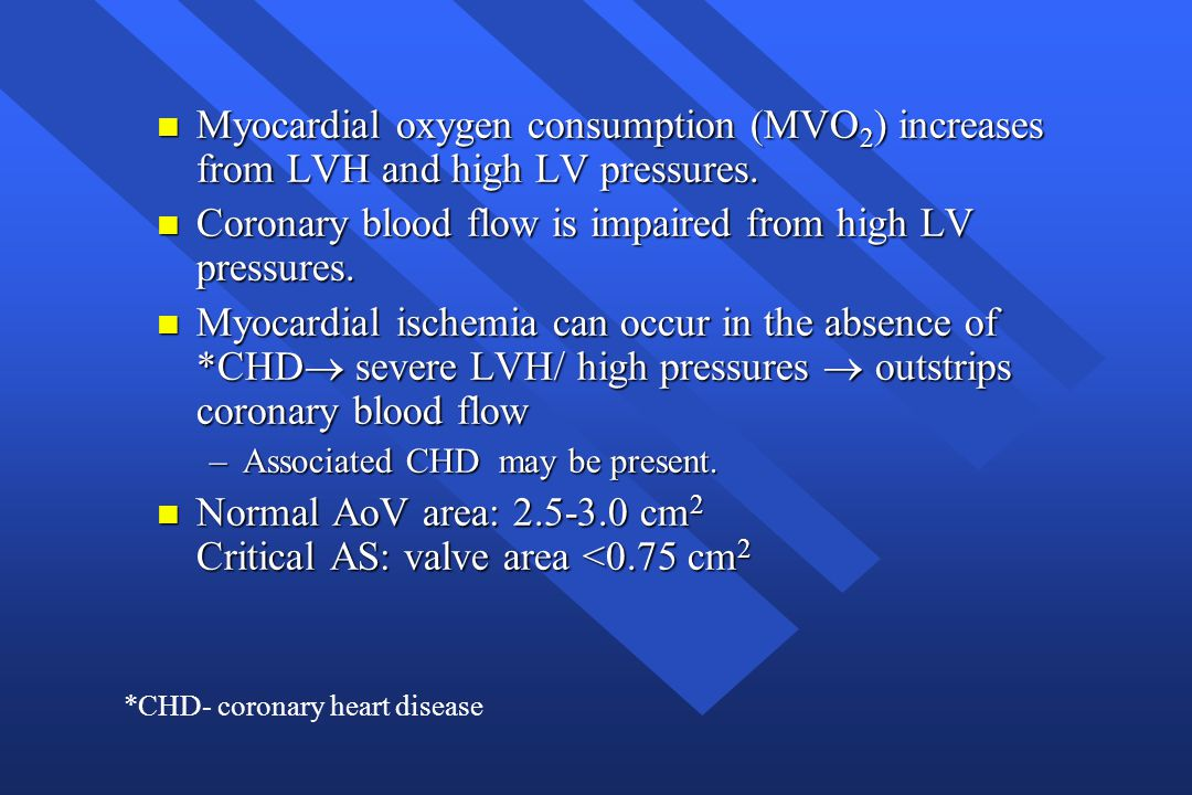 Coronary blood flow is impaired from high LV pressures.
