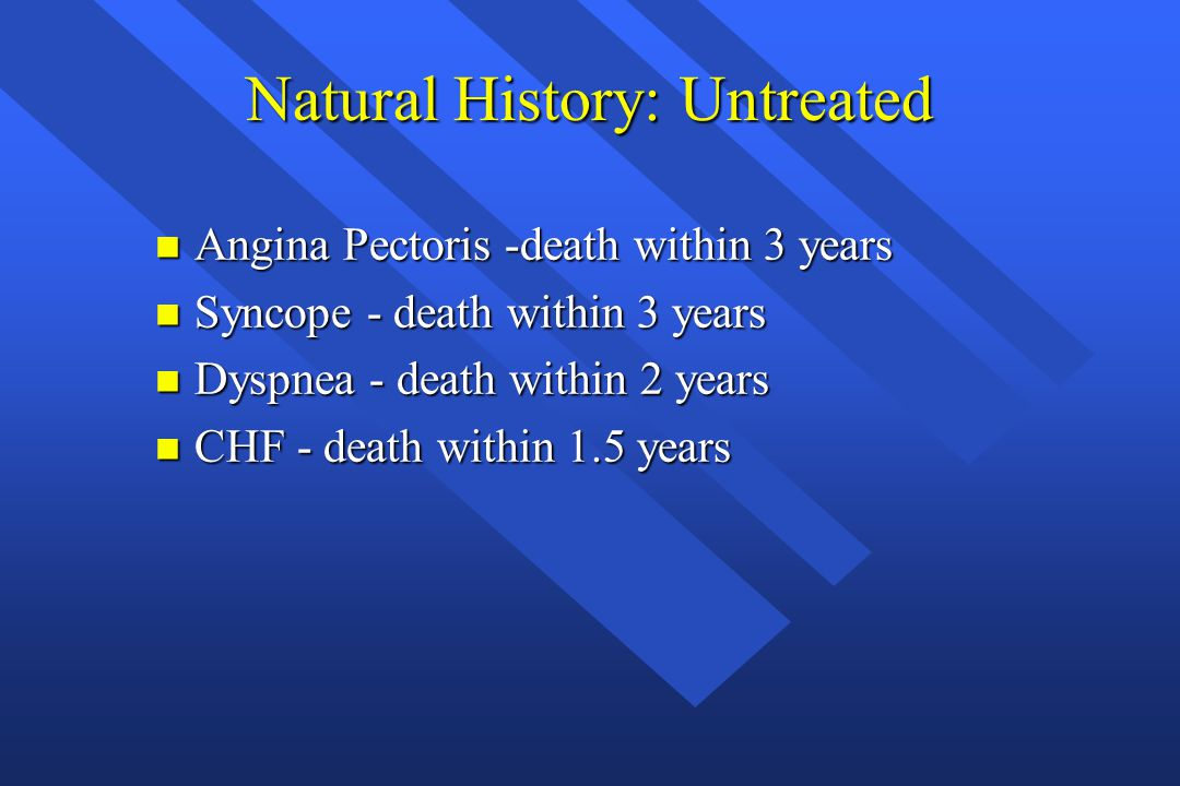 Natural History: Untreated