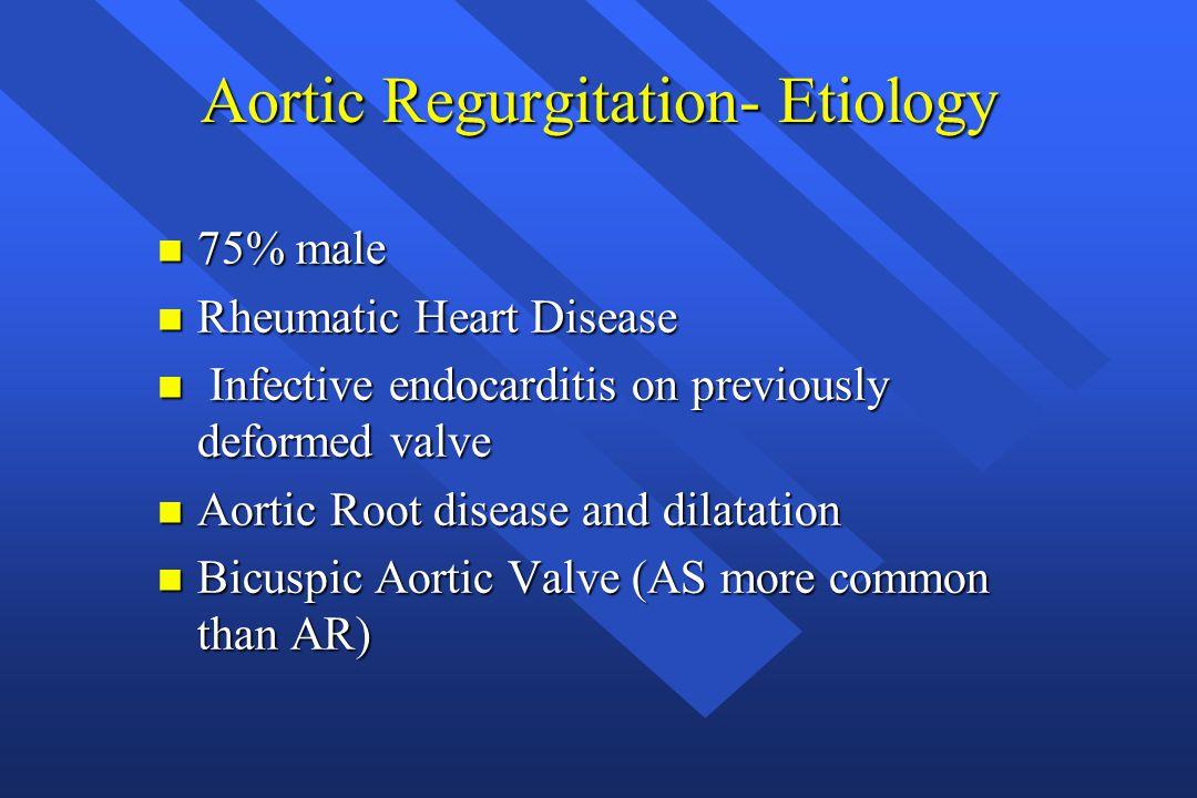 Aortic Regurgitation- Etiology
