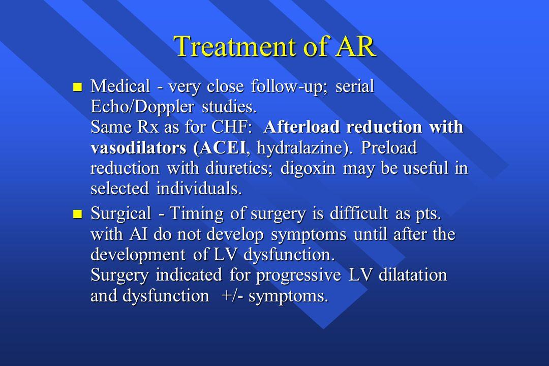 Treatment of AR