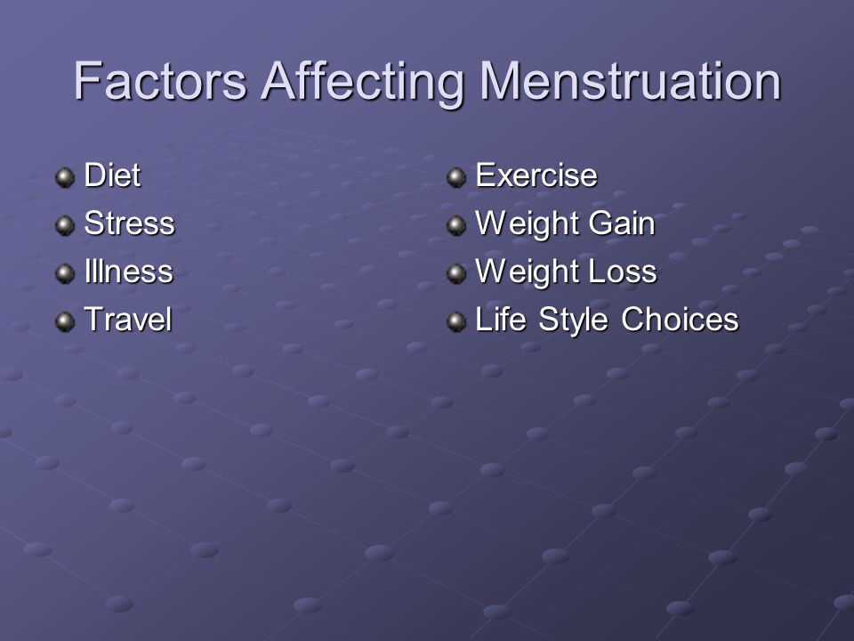 Factors Affecting Menstruation