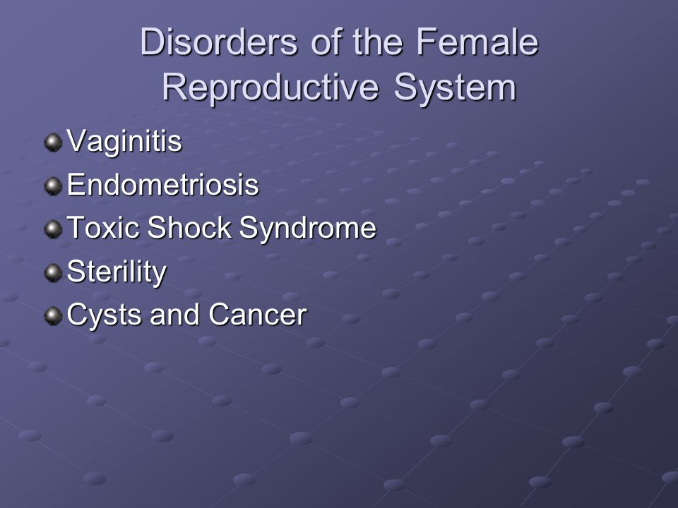 Disorders of the Female Reproductive System