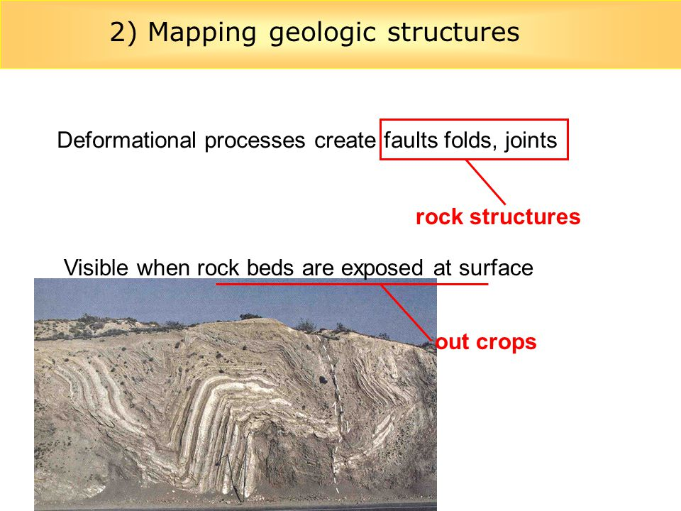 2) Mapping geologic structures