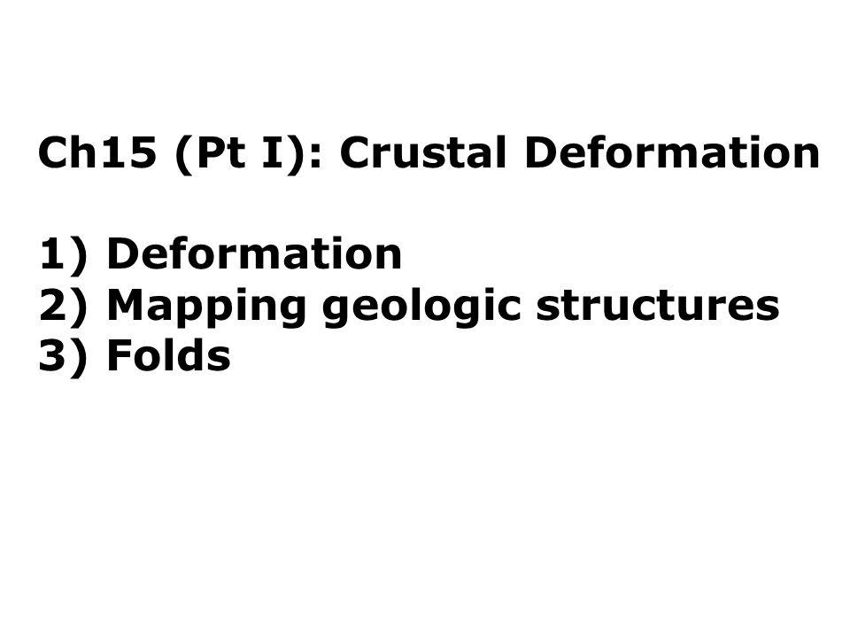 Ch15 (Pt I): Crustal Deformation