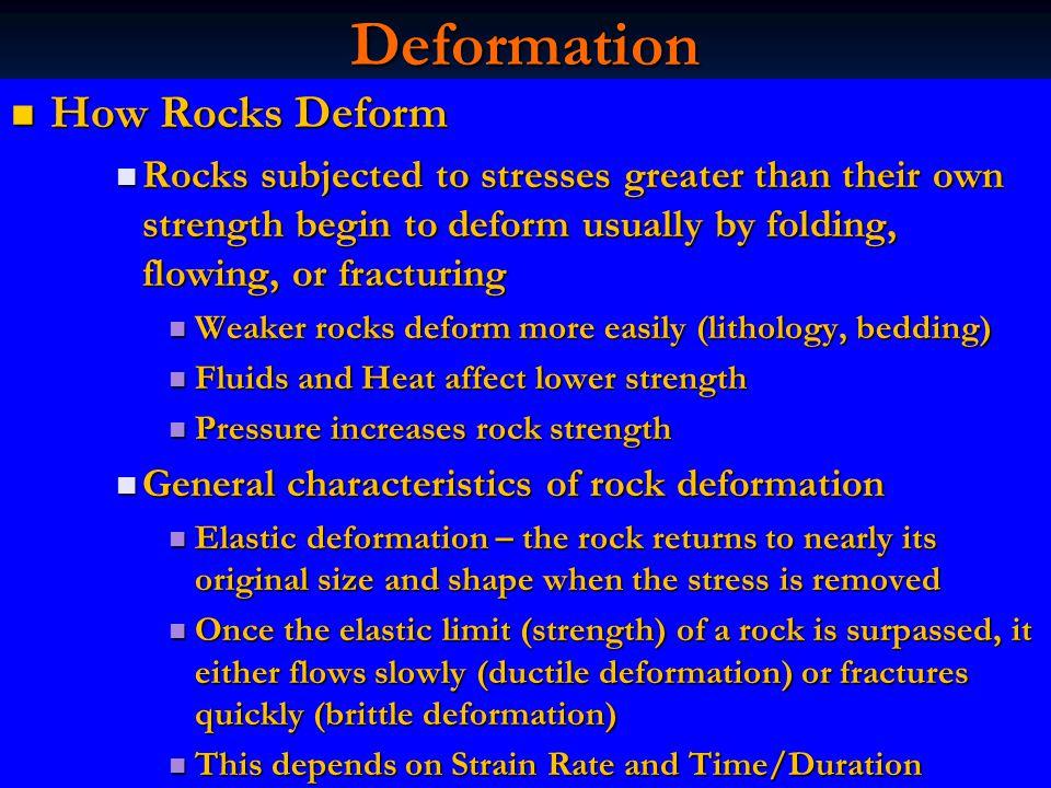 Deformation How Rocks Deform