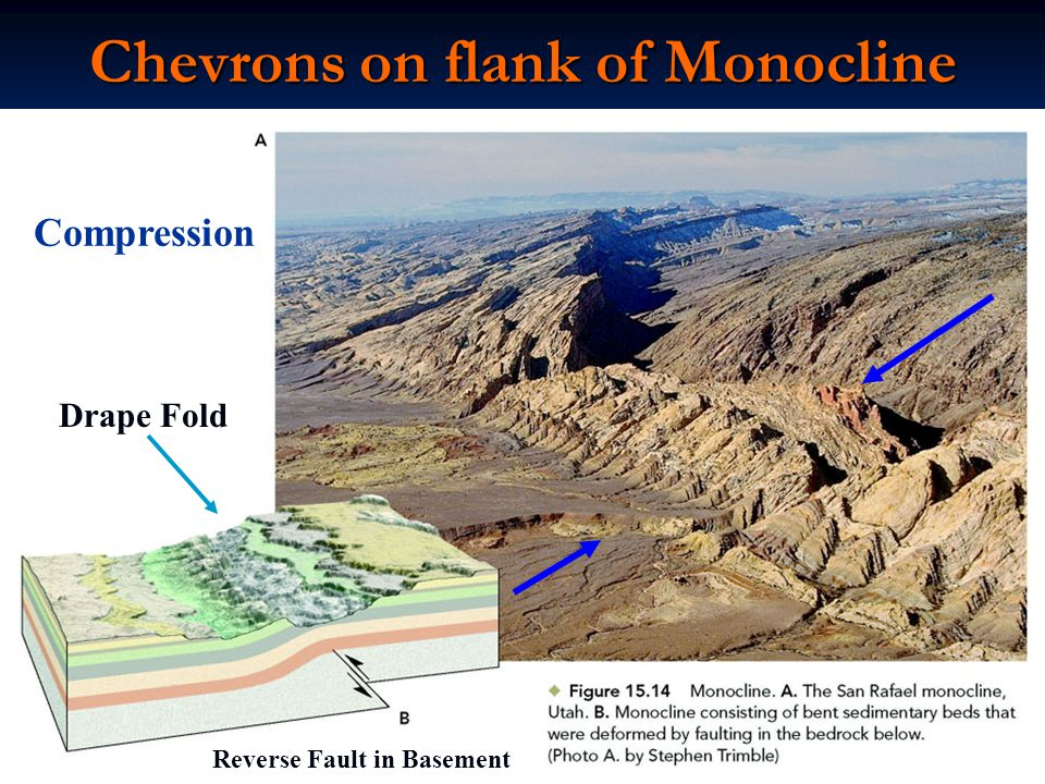 Chevrons on flank of Monocline