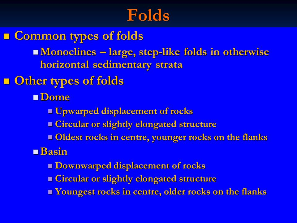 Folds Common types of folds Other types of folds