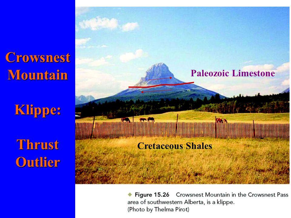 Crowsnest Mountain Klippe: Thrust Outlier