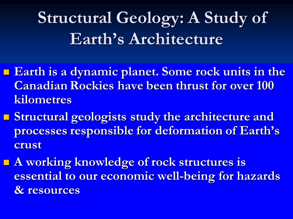 Structural Geology: A Study of Earth's Architecture