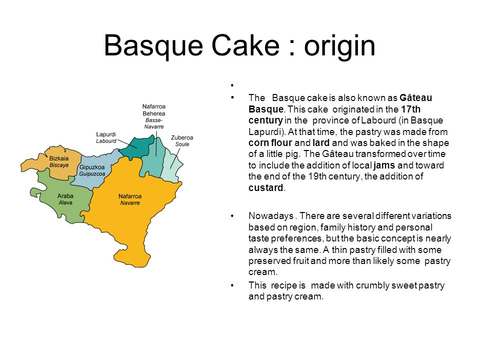 Basque Cake : origin